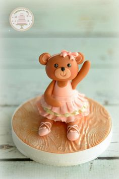 Fondant Bear Cake Topper Bear Cake Topper Ballerina Cake