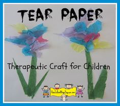 My brother doesn't have a problem with anger, but I know he does this in his adaptive art class at school. He is able to tear the paper for other students to use on their projects.  Allows him to feel like he is still participating, regardless of his ability to create art. Therapeutic Craft for Children dealing with Anger http://HowToRunAHomeDaycare.com
