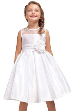 $39.99 Amazon.com: AMJ Dresses Inc Girls White Flower Girl Wedding Dress Sizes 4 to 12: Clothing