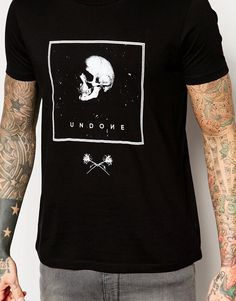 Image 3 of ASOS T-Shirt With Skull Print In Black