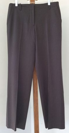 J Crew Favorite Fit Dress Pants Size 6 Wool Olive Green Flat Front Womens #JCrew #DressPants