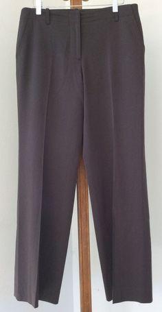 J Crew Favorite Fit Dress Pants Size 6 Wool Olive Green Flat Front Womens #JCrew #DressPants
