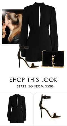 """2017/161"" by daaaaaaaaaaaa ❤ liked on Polyvore featuring Zimmermann, Gianvito Rossi and Yves Saint Laurent"