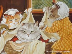 Susan Herbert  ~ Shakespeare Cats ~ 'The Merry Wives of Windsor'