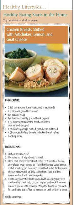 Healthy and gourmet twist on chicken.