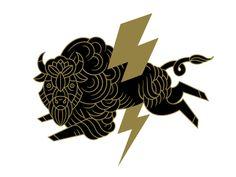 どこか和を感じさせる。 黒と金の配分が 漆蒔絵のようだからだろうか。 雷と青海波も伝統的なモチーフ。 作者は意図していないだろうけれど。