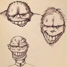 www.instagram.com/hedcheq  The three amigos. #monsters #monsterart #blackbooks #sketches