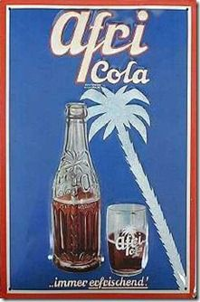 Afri-Cola was registered in 1931 by F. Blumhoffer Nachfolger GmbH, a company founded in 1864 and based based in Cologne. After the Second World War, Afri-Cola became one of the most popular drinks in Germany and a symbol of the German Wirtschaftswunder. In 1952, the company launched Bluna, a lemonade similar to Fanta, which also became a hit among customers. However, in the hard competition of the 60s, Afri-Cola started to lose its influence on the German market to Coca Cola and Pepsi.