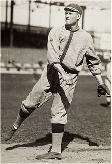 """Walter Johnson, circa 1910s, one of baseball's """"Five Immortals"""" to be first chosen for the Baseball Hall of Fame."""
