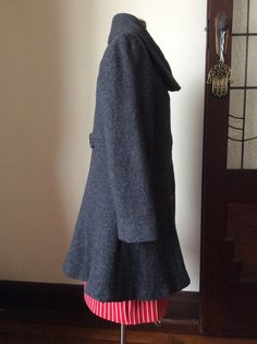 Side, Asymmetrical grey boiled wool dress coat, based on S2812 sewn 20100606