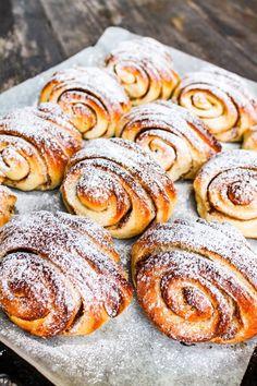 Bread Recipes, Cake Recipes, Dessert Recipes, Desserts, Baked Doughnuts, Yummy Food, Tasty, Swedish Recipes, Sweet Pastries