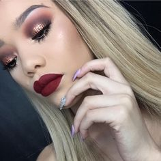"""""""Absolutely beautiful @tandebeautybar x Cherry Blossom matte #by #ColouredRaine"""""""