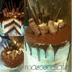 Drip cake chocolate y caramelo #dripcake #chocolate #caramelo #caramel #twix