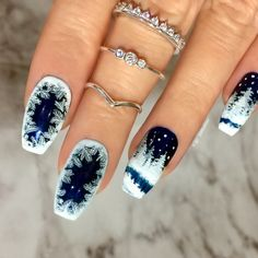 Winter Nails / Nail Art - Click link below this photo for full description ©-ig: @ldnailsxo - - CZ from Indigolune.com