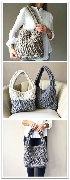 "New Cheap Bags. The location where building and construction meets style, beaded crochet is the act of using beads to decorate crocheted products. ""Crochet"" is derived fro Moda Crochet, Crochet Tote, Crochet Handbags, Crochet Purses, Knit Crochet, Crochet Shell Stitch, Crochet Hook Set, Purse Patterns, Crochet Patterns"