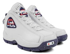 Men's Fila USA 96 Olympic Grant Hill White Leather Navy Red 1VB90052-166 $149.99