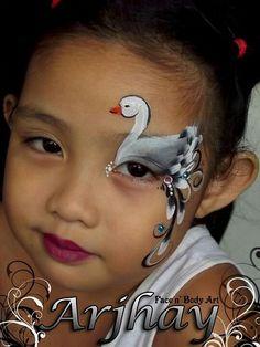 Face paint swan