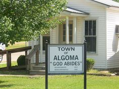 Town of Algoma Pontotoc County MS incorporated 1904 Photo:m.murphree