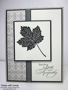 Stamp with Sandy: Magnificent Maple Sympathy, PPA185