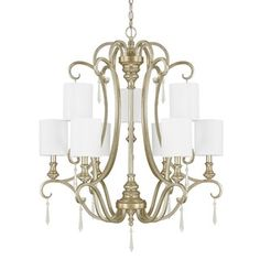 Austin Allen & Company Ansley Park Collection 4-light Iced Gold Chandelier - Free Shipping Today - Overstock.com - 17792509
