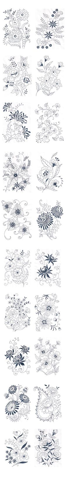 Vintage Floral Design - Machine Embroidery Design on Behance: