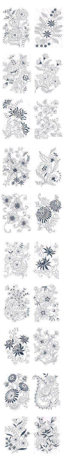 Vintage Floral Design - Machine Embroidery Design on Behance: