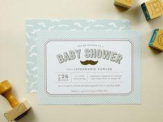 Little Man Baby Shower Invitation, Mustache Shower, baby boy shower invite