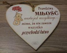 """Tabliczka serce """"Prawdziwa miłość..."""""""