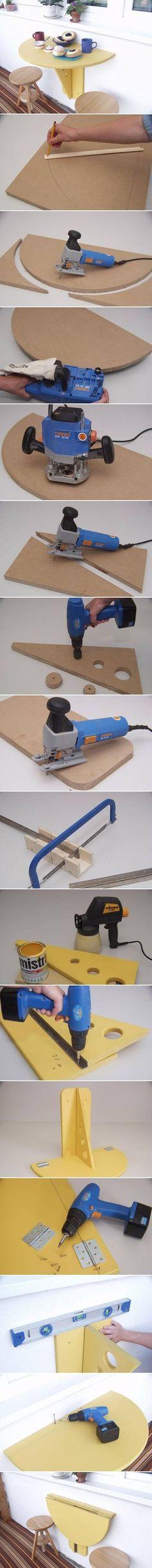 DIY Balcony Folding Table: