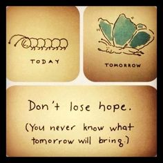 Don't lose hope, you never know what tomorrow will bring.Don't lose hope, you never know what tomorrow will bring. Great Quotes, Quotes To Live By, Me Quotes, Inspirational Quotes, Daily Quotes, Quotes Images, Beauty Quotes, Motivational Monday, Dont Lose Hope Quotes