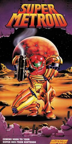 Nintendo Power - Super Metroid Poster