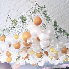 gorgeous balloon hanging wedding decor ~ we ❤ this! moncheribridals.com