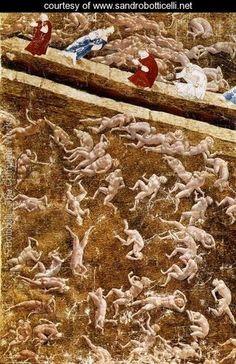 Illustration to the Divine Comedy (Inferno) 1480s - Sandro Botticelli (Alessandro Filipepi) - www.sandrobotticelli.net