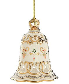 lenox christmas ornament 2012 china jewels bell all christmas ornaments holiday lane - Lenox Christmas Decorations