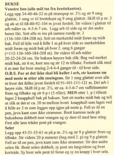 Hobbystuas.Blogg – Ballongbukse ble det tilslutt:-) Knitting Patterns Free, Baby Knitting, Free Pattern, Diy And Crafts, Words, How To Make, Barn, Rompers, Tricot Baby
