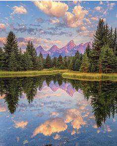 Beautiful Landscape Photography, Beautiful Landscapes, Grand Teton National Park, National Parks, Mirror Image, Wyoming, Places To Visit, Explore, World