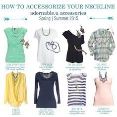 How to accessorize your neckline #adornableu #getadorned adornable.u