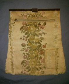 Sweet Vintage Folding Fabric Clutch Bag with Cigarette Pocket-ca. 1920's-30's #FoldingClutch #EverydaySundayFormal