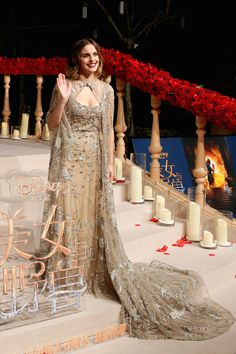 Emma Watson Beauty and the Beast press tour Shanghai China