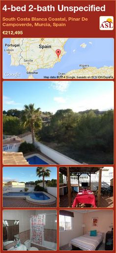 Unspecified for Sale in South Costa Blanca Coastal, Pinar De Campoverde, Murcia, Spain with 4 bedrooms, 2 bathrooms - A Spanish Life Alicante, Portugal, Murcia Spain, Dry River, Bbq Area, Central Heating, Apartments For Sale, Great View, Terrace