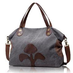 38f20db34f70 Casual Canvas Large Capacity Handbag Leaves Pattern Shoulder Bags Crossbody  Bags is designer