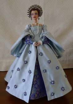 Flowers full front low res | por Julie Manley Barbie Gowns, Barbie Clothes, Historical Costume, Historical Clothing, Dolly Dress, African American Dolls, Barbie Dream, Barbie Collection, Cute Dolls