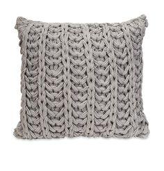 Hadley Grey Crochet Pillow