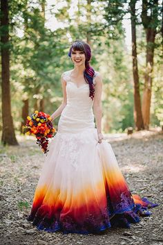 This dress has all the colors of the sunset. It's so beautiful.