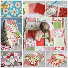 Creative Ideas - DIY Pretty Crochet Daisy Baby Blanket | iCreativeIdeas.com Follow Us on Facebook --> www.facebook.com/iCreativeIdeas