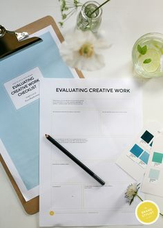 #Free worksheet on evaluating yours brands creative work!