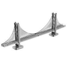 ゴールデンゲートブリッジ金属3dジグソーパズル子供のためのステンレス鋼diyアセンブリモデル建物アーキテクチャ教育おもちゃ