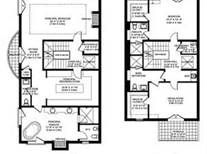 Townhouse floor plans and image search on pinterest Luxury townhomes floor plans