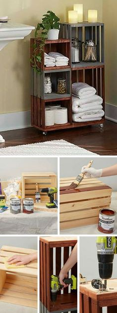 Check out the tutorial: #DIY Wooden Box Cabinet #crafts #homedecor