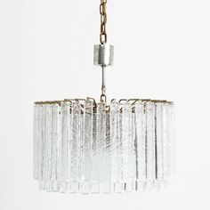 1960s Italian chandelier attributed to Venini